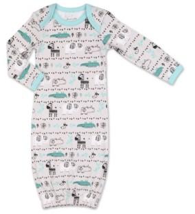 The Peanut Shell The Baby Boy Safari Story Animal Print Sleep Gown