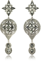 Roberto Cavalli Two Tone Crystal Drop Earrings