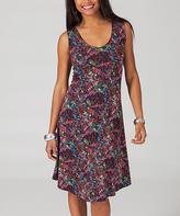 Aller Simplement Fuchsia Floral Sleeveless Dress