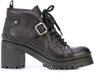 Miu Miu Heeled Lace-Up Boots
