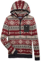 American Rag Men's Geo Stripe Anorak Sweater, Only at Macy's