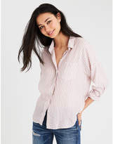 American Eagle AE OVERSIZED STRIPED DOLMAN SHIRT