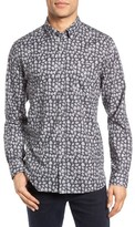 Ted Baker Men's Longbo Extra Slim Fit Palm Print Sport Shirt