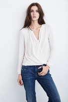 Janet Textured Knit Wrap Top