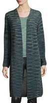M Missoni Long Space-Dyed Lurex® Duster, Teal