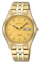 Seiko Mens Yellow Goldtone Functional Solar Watch