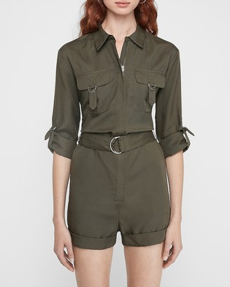 Express Silky Utility Romper