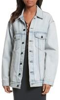 Alexander Wang Women's Denim X Daze Bleach Oversize Denim Jacket