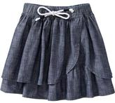 Old Navy Girls Chambray Faux-Wrap Skirts