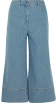 Michael Kors Cropped High-rise Wide-leg Jeans - Mid denim
