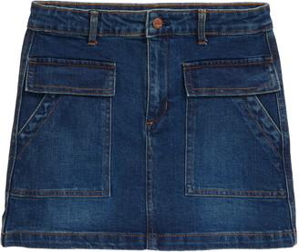 Tractr Kids' Cargo Denim Skirt
