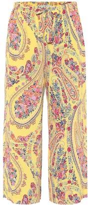 Etro Paisley cropped pants