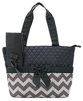 Handbags Handbag Inc Quilted Chevron Stripe Diaper Bag Baby Changing Pad Cosmetic Bag