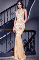 Baccio Couture - Ericka - 2789 Painted Long Mesh Evening Dress