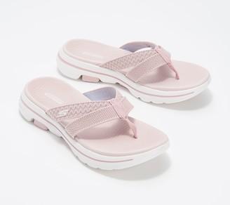 Skechers GoWalk 5 Thong Sandals- Sun Kiss