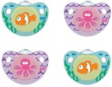 NUK 6-18 Months 4-pk. Cute as a Button Sea Creatures Orthodontic Pacifiers