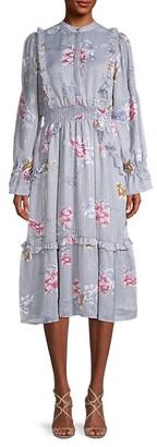 Walter Baker Floral-Print Ruffled Dress