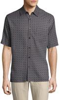 Toscano Short Sleeve Silk Printed Sportshirt