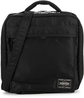 Porter Black padded nylon cross-body bag