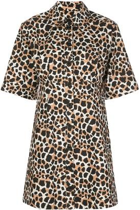 Sea Animal-Print Midi Dress