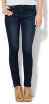 New York & Co. Soho Jeans - Mid Rise Skinny - Highland Blue Wash - Petite
