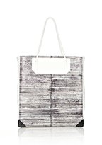 Prisma Tote In Handpainted Eel With Matte Black