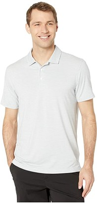 Puma Caddie Stripe Polo (Quarry Heather) Men's Short Sleeve Pullover