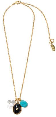 Lizzie Fortunato Black Oasis Charm Necklace