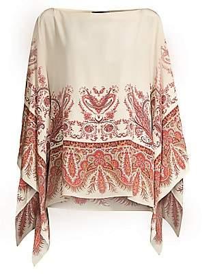 Etro Women's Paisley Silk Poncho