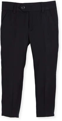 Appaman Straight-Leg Suit Pants, Navy, Size 2-14