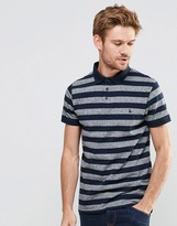 Jack Wills Polo Shirt With Stripe In Navy