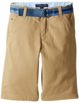 Tommy Hilfiger Dagger Stretch Twill Shorts (Big Kids)