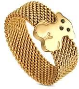 Tous Mesh Bear Ring