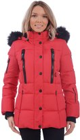 RedX Canada Women's Short Puffer Down Winter Coat with Faux Fur Lined Hood