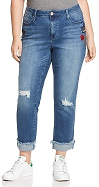 Seven7 Rolled Hem Patch Jeans in Reeves