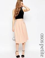 Asos Midi Pleated Prom Skirt in Scuba
