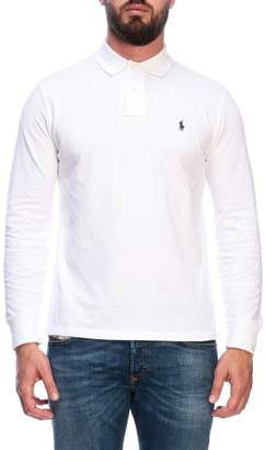 Polo Ralph Lauren T-shirt Long-sleeved Custom-fit Polo Shirt In Cotton With Embroidered Logo