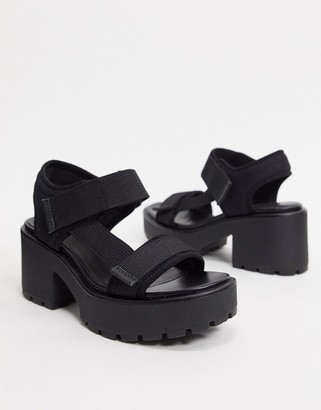 Vagabond Dioon chunky sporty heeled sandals in black