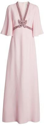 Andrew Gn Embellished Neckline Gown