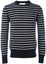 Ami Alexandre Mattiussi striped crew neck jumper - men - Virgin Wool - XL