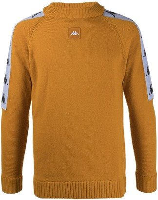Kappa Logo-Striped Crewneck Jumper