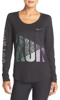 Nike Women's 'Run Outrun' Graphic Dri-Fit Tee