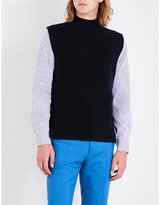 Marni Turtleneck sleeveless wool and cashmere-blend jumper