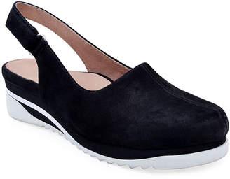 Bettye Muller Concept Taye Leather Slingback Clogs, Black