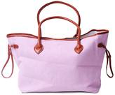 DOMI Women's Totebags pink - Light Pink & Brown Trim Tote