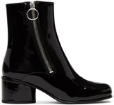 Marc Jacobs Black Patent Crawford Double-Zip Boots