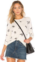 Stateside Wine Floral Sweathshirt in Ivory. - size L (also in M,S)