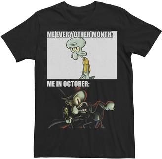 Nickelodeon Men's SpongeBob SquarePants Squidward October Meme Graphic Tee