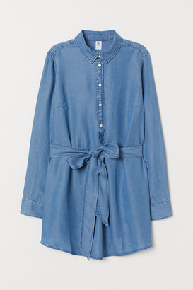 H&M MAMA Lyocell Denim Shirt - Blue