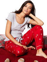 New York & Co. 2-Piece Pajama Set - Reindeer Print